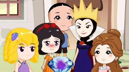 白雪把火焰宝石送给母后,童话王国有危险,这是僵尸的阴谋!