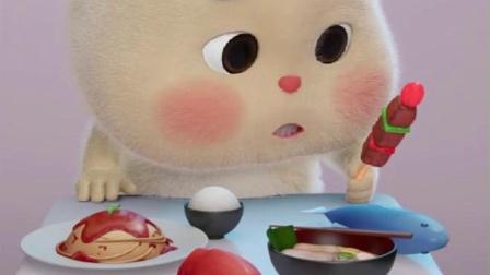 短耳兔小胖:吃完这一桌,决定减肥5分钟