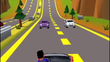 小游戏:跑车也要遵守交通规则哦