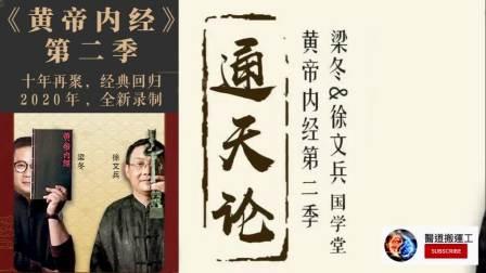 徐文兵&梁冬《黄帝内经》第二季|灵枢通天篇(全11讲)2020新作