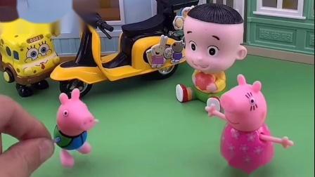 乔治太败家了,它看到小朋友们的玩具,让猪妈妈都给它买