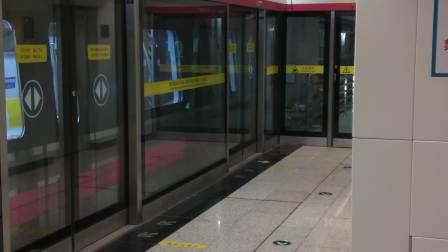 青岛地铁8号线  胶州北站下行方向(终点站青岛北站)  列车出站