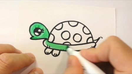 一分钟学会画.可爱的小乌龟