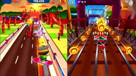 汤姆猫跑酷游戏 超级闪电汤姆猫vs新地铁跑酷