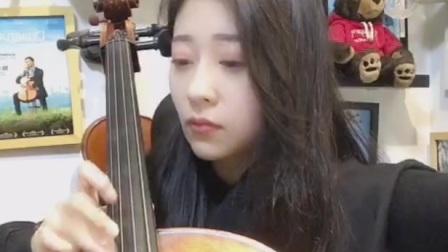 大提琴《渡红尘》陌陌主播肉肉演奏。华为M20X录屏。