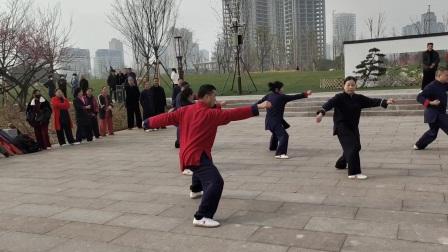 温岭九龙湖湿地公园正月初六太极拳