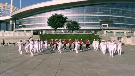 云南大理云之炫舞健身队学习跳跳乐第21套晓敏快乐健身操 第3节 全民迪斯科