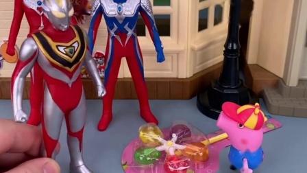 乔治给姐姐买的糖果,找不到姐姐在哪里,奥特曼帮忙寻找