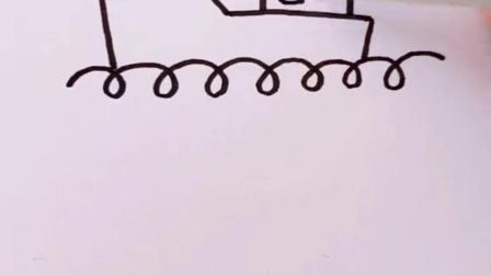 随手画一个轮船,拿去教娃去吧。