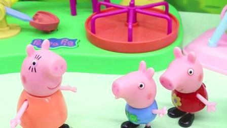 很晚了佩奇和乔治不想回家,还想玩,就藏起了却还是被猪妈妈找到了