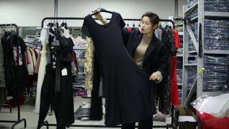 2019年最新精品女装批发服装批发时尚服饰时尚女士夏款走份连衣裙20件一份,视频款可挑款零售混批