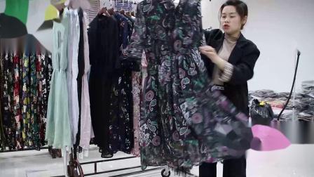 2019年最新精品女装批发服装批发时尚服饰时尚女士夏款连衣裙20件起批,视频款可挑款零售混批