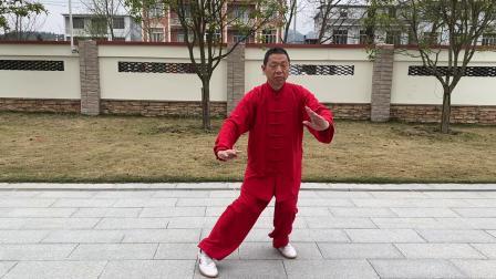 传统杨式85式太极拳(通城北港李恩龙2021.2.26初学时留影)