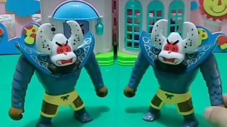 益智玩具:两个蝎子精想做坏事,葫芦娃卡片也能收拾你们