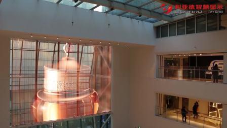 26秒!LED透明大屏点亮西单大悦城,高清画质 打造高端商业空间