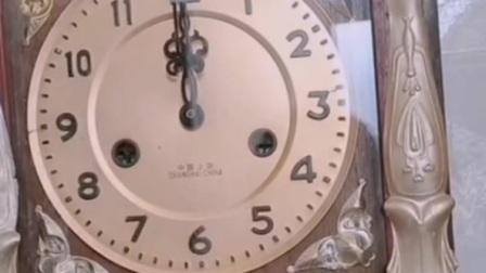 上海555牌机械座钟外壳改装的石英钟报时声