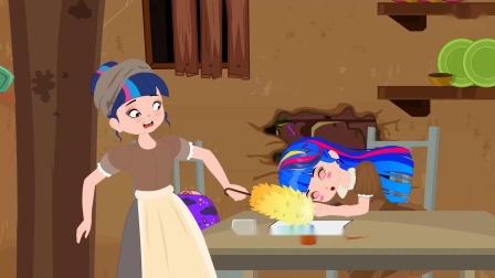 紫悦妈妈弄坏了紫悦刚画好的画