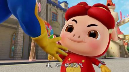 猪猪侠:猪猪侠向超人强撒娇,果然还是棒棒糖好使啊