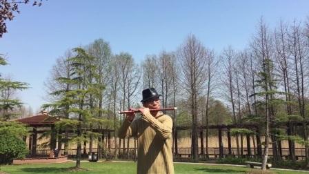 笛子独奏【春到湘江】片段 顾村公园 摄影:章银妹 制作演奏:滕宝华 2021年3月22日