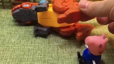 乔治找不到螺丝,小恐龙的腿安装不上,豌豆射手吞了螺丝!