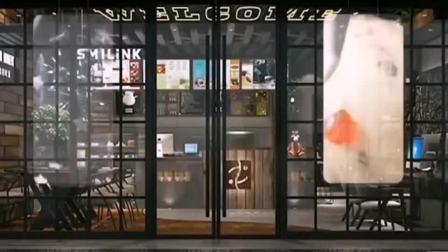 线下活招牌 咖啡店用上透明LED橱窗广告屏幕