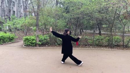 刘慧演练凤凰剑