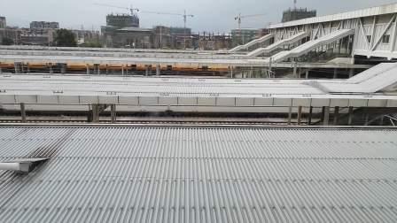 20200830 085749 西成高铁G350次列车高速通过汉中站