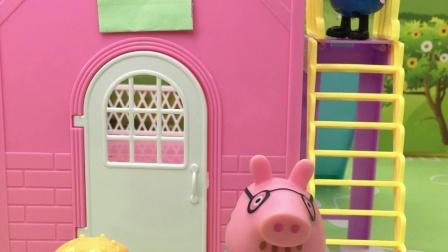 猪爸爸偷吃肉被发现了