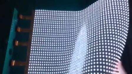 柔性LED贴膜屏测试及幕墙应用惊艳效果
