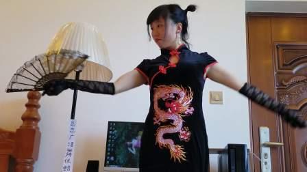 中国人就穿中国风龙刺绣旗袍_现代舞_音乐_深情败给时间