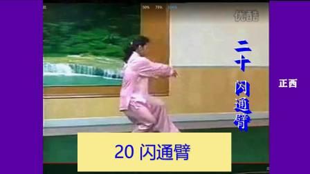 高佳敏24式太极拳 20闪通臂