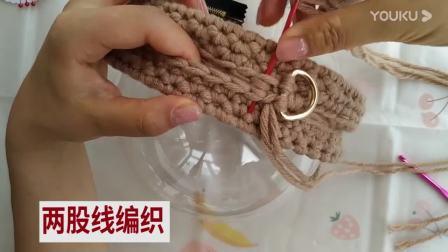 米奇半球编织包,可以用3根毛线一起勾,比2根勾的更好看