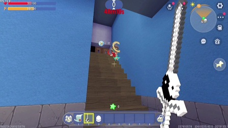 迷你世界:噩梦逃生!房子自动变色,楼梯突然冒出球!