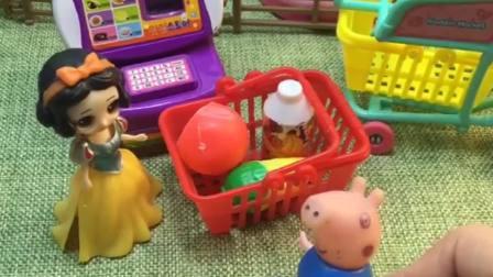 乔治带的钱不够,没买自己爱喝的奶,白雪夸乔治真懂事!