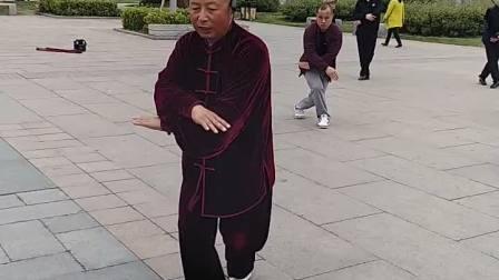 界首市太极拳协会会长张亚风讲解陈氏56式