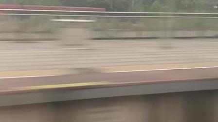 2021.4.5 衡柳线 乘坐CRH3C-G540次通过永福南站 超越DF4D货列