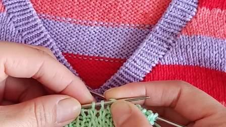 珍珍珍编织Ⅴ领领收收针方法