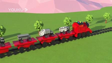 我在托马斯小火车运送五彩小汽车截了一段小视频