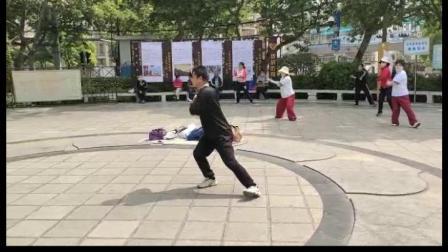 务书老师打吴氏太极拳