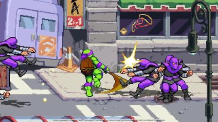 《忍者神龟:施莱德的复仇》实机演示