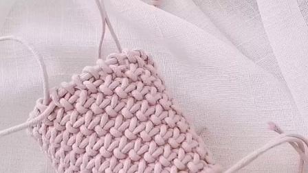 手工制作的包包编绳包教程diy原创设计小蜗牛编织社嫣然4