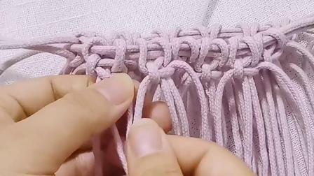 手工制作的包包编绳包教程diy原创设计小蜗牛编织社嫣然2