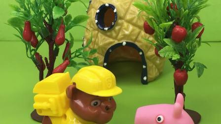 小力饿的想吃森林里面的红果子