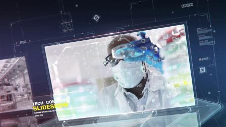 AE模板 科技感商务产品宣传展示人物介绍图片视频包装片头