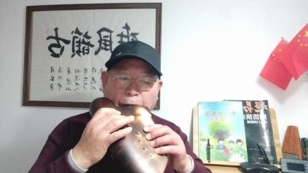 《琵琶语》子雷新三管降B调陶笛演奏.F调指法.降E调伴奏