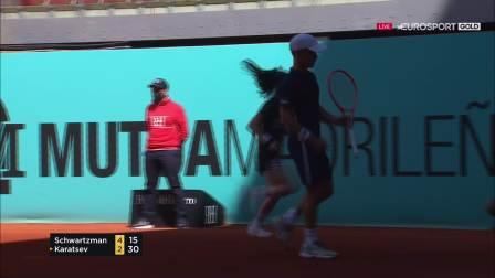 【哇哈体育】ATP 1000 馬德里公開賽2021施瓦茲曼vs卡拉采夫