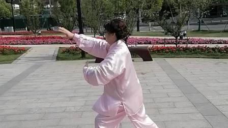 徐老师演练42式太极拳