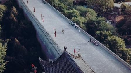 航拍西安城墙风光(千年沧桑尽收眼里)