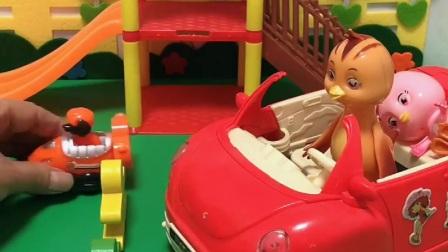 益智玩具:鸡妈妈要带着朵朵去医院,这路怎么被堵住了?