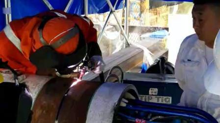 德平科技气坝对口器tig焊视频
